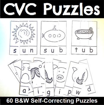 CVC Puzzles in Black and White