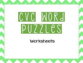 CVC Interactive Word Puzzles (Short e)