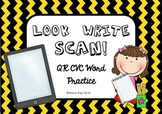 CVC QR Scan activity- Look, Write, Scan! Literacy Activity