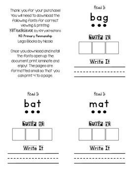 CVC READ-WRITE-BUILD Word Work