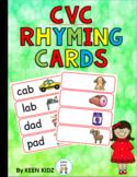 CVC RHYMING WORD CARDS