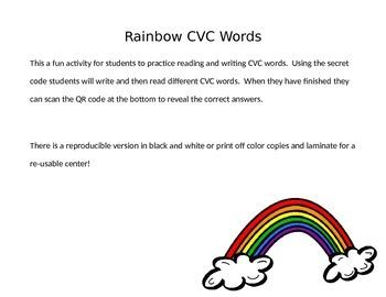 CVC Rainbow Secret Code