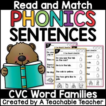 CVC: Read & Match Sentences with CVC Words