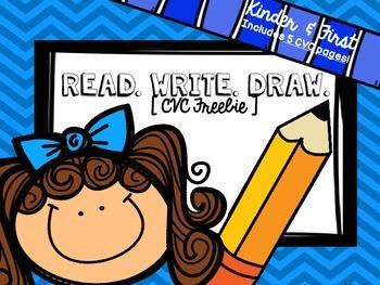 {Read. Write. Draw.} /cvc freebie/