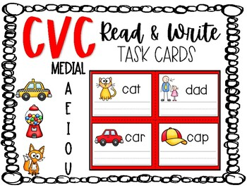 CVC Read & Write Task Cards