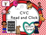 CVC Read and Click BOOM Task Cards