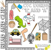 CVC Read and Clip 'A' and 'E' sounds