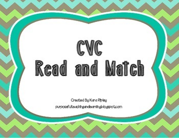 CVC Read and Match