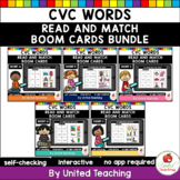 CVC Read and Match Boom Cards Bundle (Distance Learning)