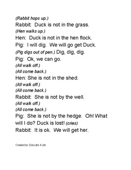 CVC Readers Theater Duck Gets Lost