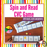 CVC Reading Game: Spin and Read Word Bingo Activity for Sh