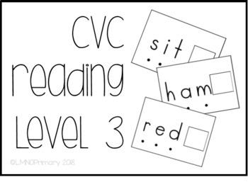CVC Reading Level 3 Task Box Activity