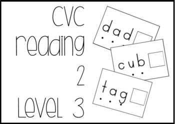 CVC Reading Level 3 Task Box Activity #btsfresh