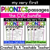 CVC Reading Passages and Comprehension Questions BUNDLE