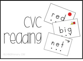 CVC Reading Task Box Activity