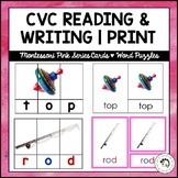 CVC Reading, Writing Cards and Word Puzzles