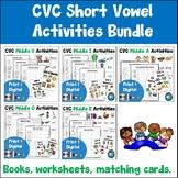 CVC Reading and Writing Activities Bundle Print and Digital