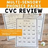 CVC Review Multisensory Phonics Practice Orton-Gillingham Level 1