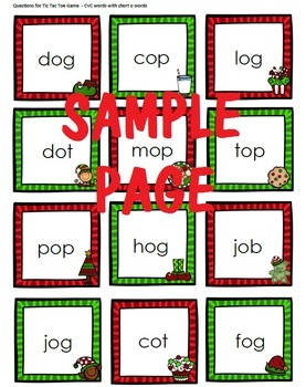 Christmas Review Game - Plus Free Template
