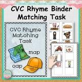 CVC Rhyme Binder Matching Task