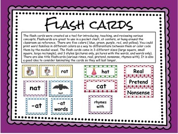 CVC Rhyming Flashcards: -at