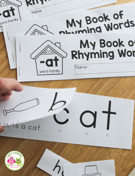 CVC Rhyming Flip Book -at Word Family Freebie