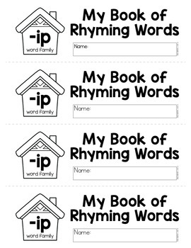 CVC Rhyming Flip Books