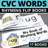 Rhyming Activity Books | CVC Rhyming Flip Books