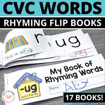 Rhyming Activity Books   CVC Rhyming Flip Books