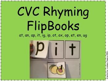 CVC Rhyming FlipBooks