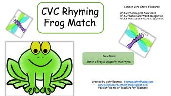 CVC Rhyming From Match