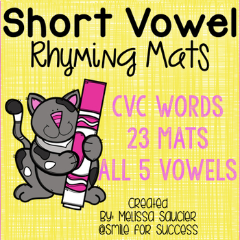 CVC Rhyming Mats {All Vowels Included}