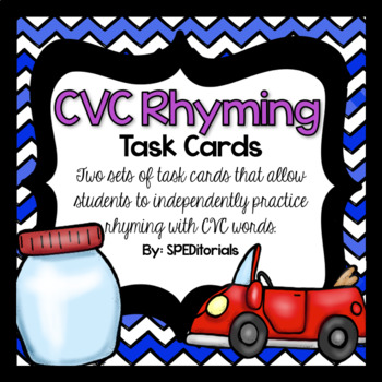 CVC Rhyming Task Cards