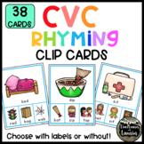 CVC Rhyming Words Clip Cards