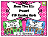 CVC Rhyming Words File Folder Set