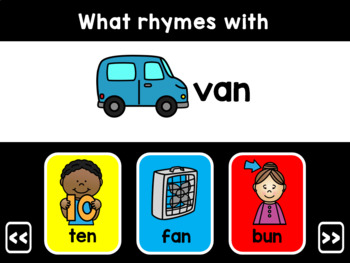 CVC Rhyming Words Interactive PowerPoint Game