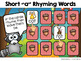 Short Vowel CVC Rhyming Words Memory Match ~ Interactive PowerPoint Game
