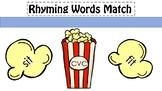 CVC Rhyming Words Popcorn Match