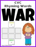 CVC Rhyming Words War