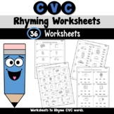 CVC Words Rhyming Worksheets