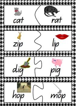 CVC Rhyming words jigsaw