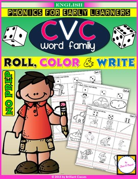 CVC Roll, Color and Write ! (NO PREP)