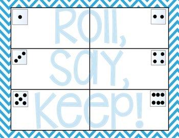 CVC Roll, Say, Keep! {Short a}