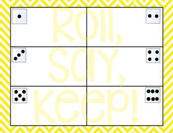 CVC Roll, Say, Keep! {Short e}
