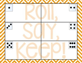 CVC Roll, Say, Keep! {Short u}