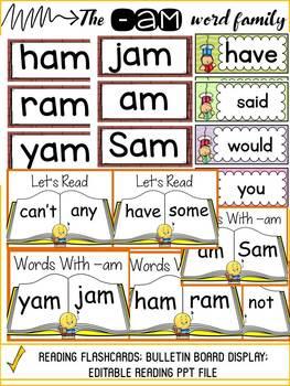 CVC: SHORT A: THE -AM WORD FAMILY
