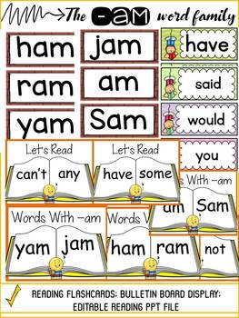 CVC: SHORT VOWEL A: THE -AM WORD FAMILY