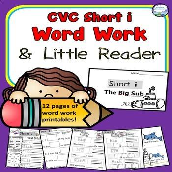 CVC SHORT I Spelling Word Work Printables Kindergarten 1st