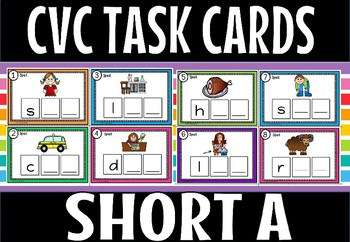 CVC SHORT A TASK CARDS.SET 1