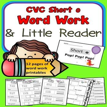 CVC SHORT O Spelling Word Work Printables Kindergarten 1st Grade